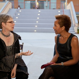 Rhonda P. Hill Talks to Elaine Unzicker, Unzicker Designs, - Photo ©Desiree Hernandez | www.dezirephotography.com