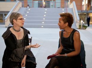 Rhonda P. Hill Talks to Elaine Unzicker, Unzicker Designs, - Photo ©Desiree Hernandez   www.dezirephotography.com