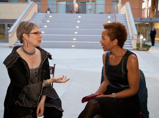 Rhonda P. Hill Talks to Elaine Unzicker, Unzicker Designs, - Photo ©Desiree Hernandez   2014, www.dezirephotography.com