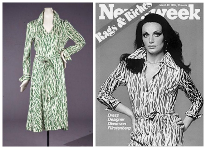 Furstenberg appeared on the cover of Newsweek in 1976 wearing her signature wrap dress. Photo Newsweek