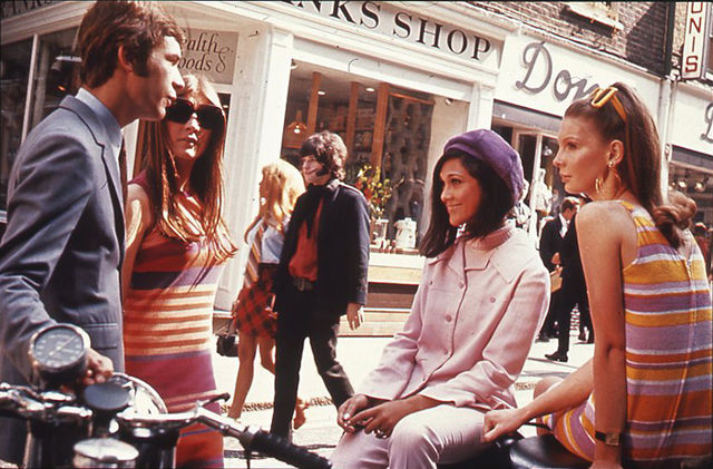 Swinging London fashions on Carnaby Street, c. 1966. The National Archives (United Kingdom). Wikimedia Commons