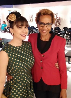 Rhonda with Alexis Evelyn   Invierno Fashion Show, Blackboard Gallery, 2014, ©Rhonda P. Hill