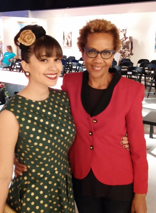 Rhonda with Alexis Evelyn | Invierno Fashion Show, Blackboard Gallery, 2014, ©Rhonda P. Hill