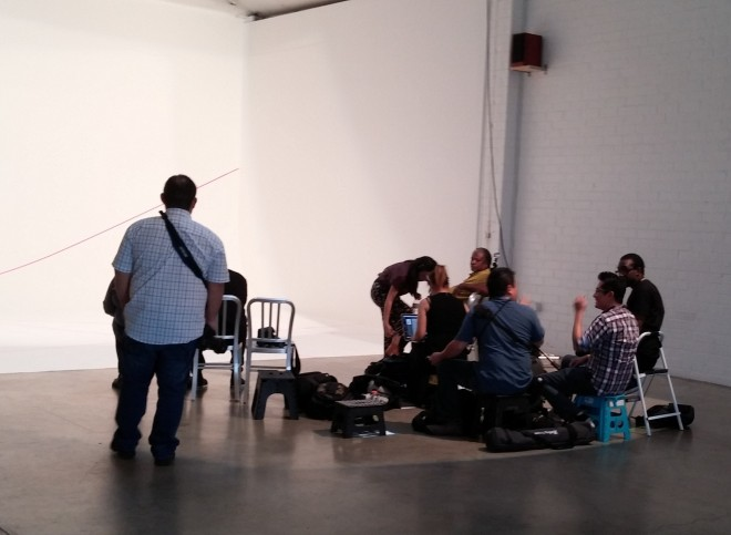 Photographers Pause - Models Rehearse