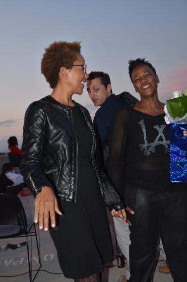 Rhonda P. Hill Congratulates Shanta Faria De Sa, winner Most Avant-Garde award