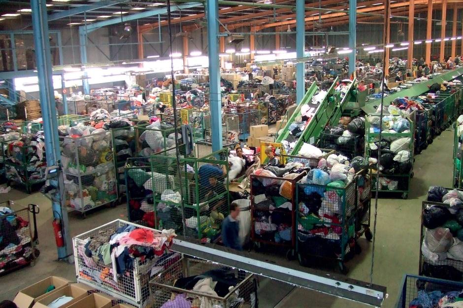 Fuel4Fashion | Large bins storing waste cloths