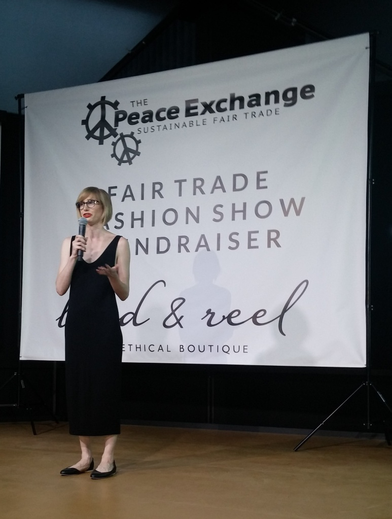©Rhonda P. Hill/EDGExpo.com, Sica Schmitz, Owner, Bead & Reel, An Ethical Boutique - 2016 Fair Trade Fashion Show, edited