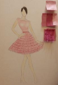 Jodi de Marcos sketch, Santa Barbara Fashion Week, EDGExpo.com