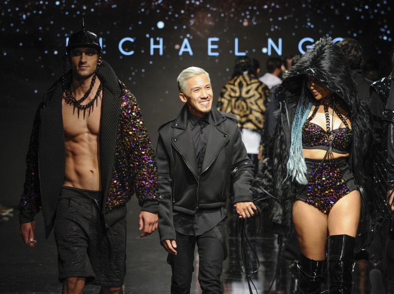 Michael NGO at Art Hearts Fashion Los Angeles Fashion Week Presented by AIDS Healthcare Foundation