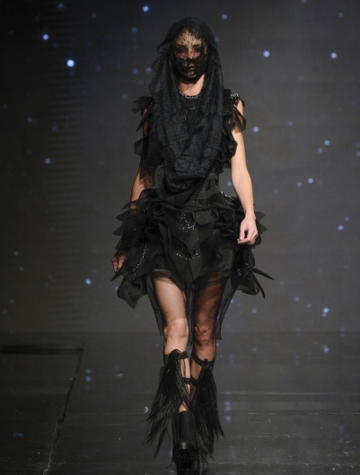 LOS ANGELES, CA - OCTOBER 09: A model walks the runway wearing Amato Couture at Art Hearts Fashion Los Angeles Fashion Week presented by AIDS Healthcare Foundation on October 9, 2016 in Los Angeles, California. (Photo by Arun Nevader/Getty Images for Art Hearts Fashion)