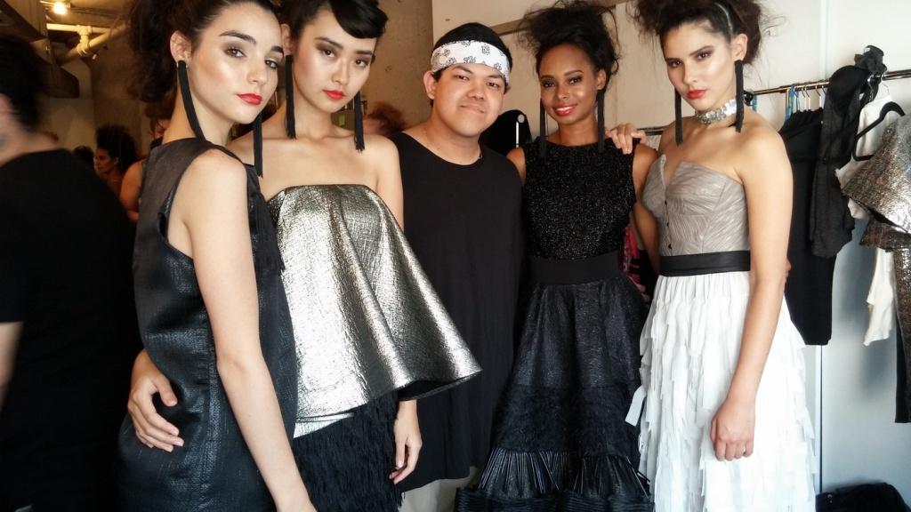 Patrick Kevin Francisco, backstage with models