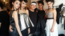 Patrick Kevin Francisco, backstage with models