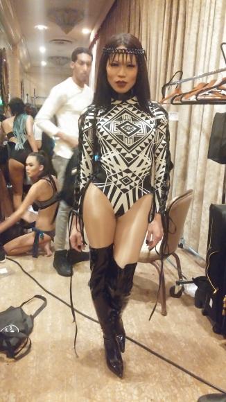 model wearing Michael Ngo