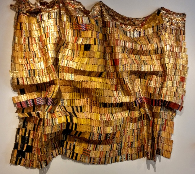 Nigerian born artist, El Anatsui, metal cloth, copyright EDGExpo.com/Rhonda P.Hill, High Museum of Art