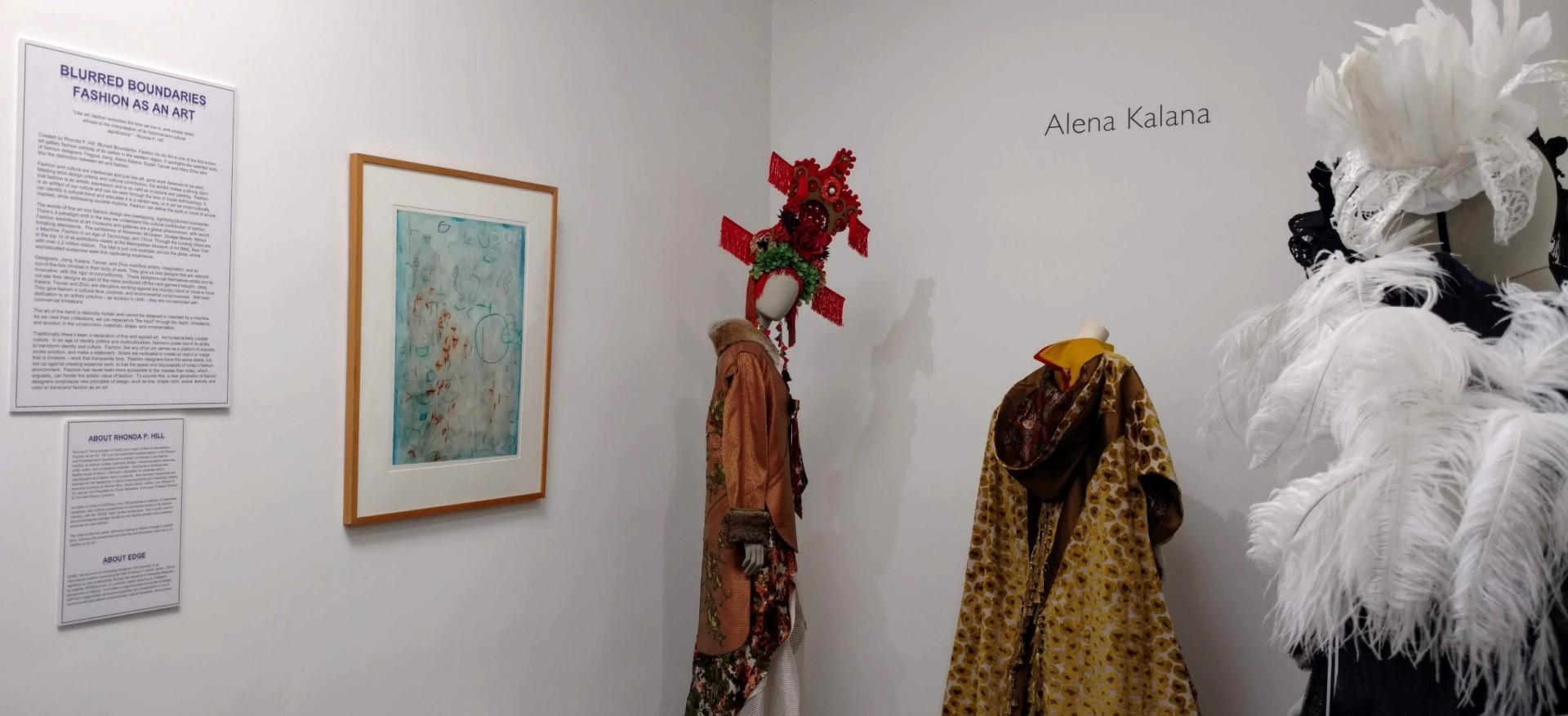 curated by Rhonda P. Hill, Blurred Boundaries Fashion as an Art exhibit, GraySpace Gallery, Santa Barbara, ©EDGExpo.com