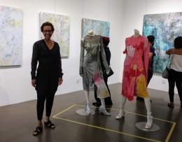 curated by Rhonda P. Hill, Blurred Boundaries Fashion as an Art, with Erik ReeL Zero Point, GraySpace Gallery, Santa Barbara, ©Rhonda P. Hill