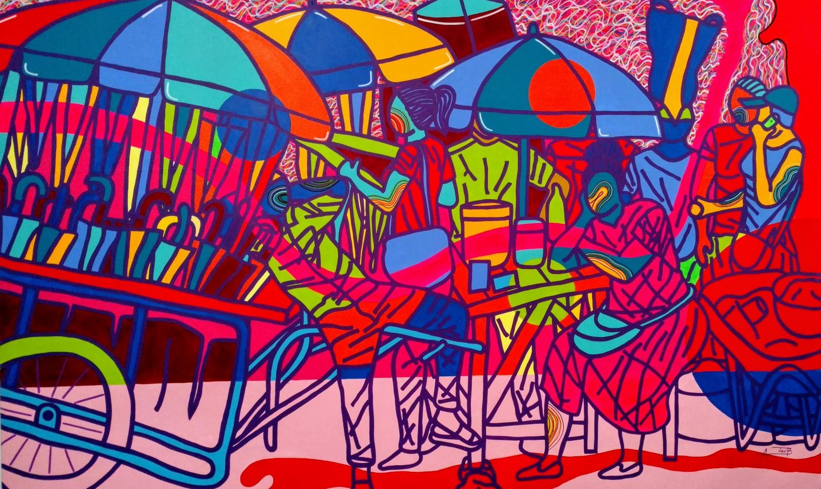 Ajarb Bernanrd Ategwa, Cameroon artist, ALAC, Peres Projects, Barker Hangar, Santa Monica