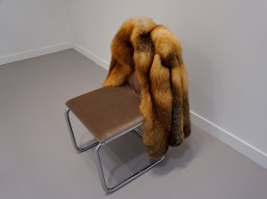 "German artist, Nicole Wermers, vintage fur ""Untitled Chairs"" sculpture 