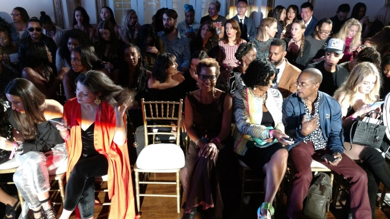Rhonda P. Hill Front Row at LA Fashion Week VIP Guest of designer Bishme Cromartie, courtesy of EDGExpo.com