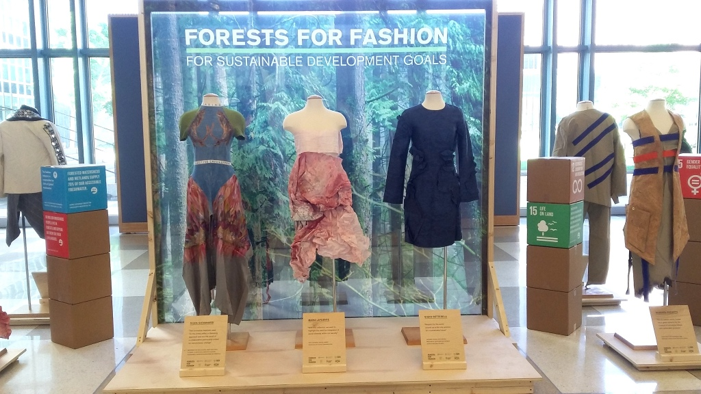 UNECE/FAO Forests and Fashion at the High Level Political Forum on Sustainable Development, 9-18 July 2018, New York, USA. © UNECE/FAO Forestry and Timber Section.