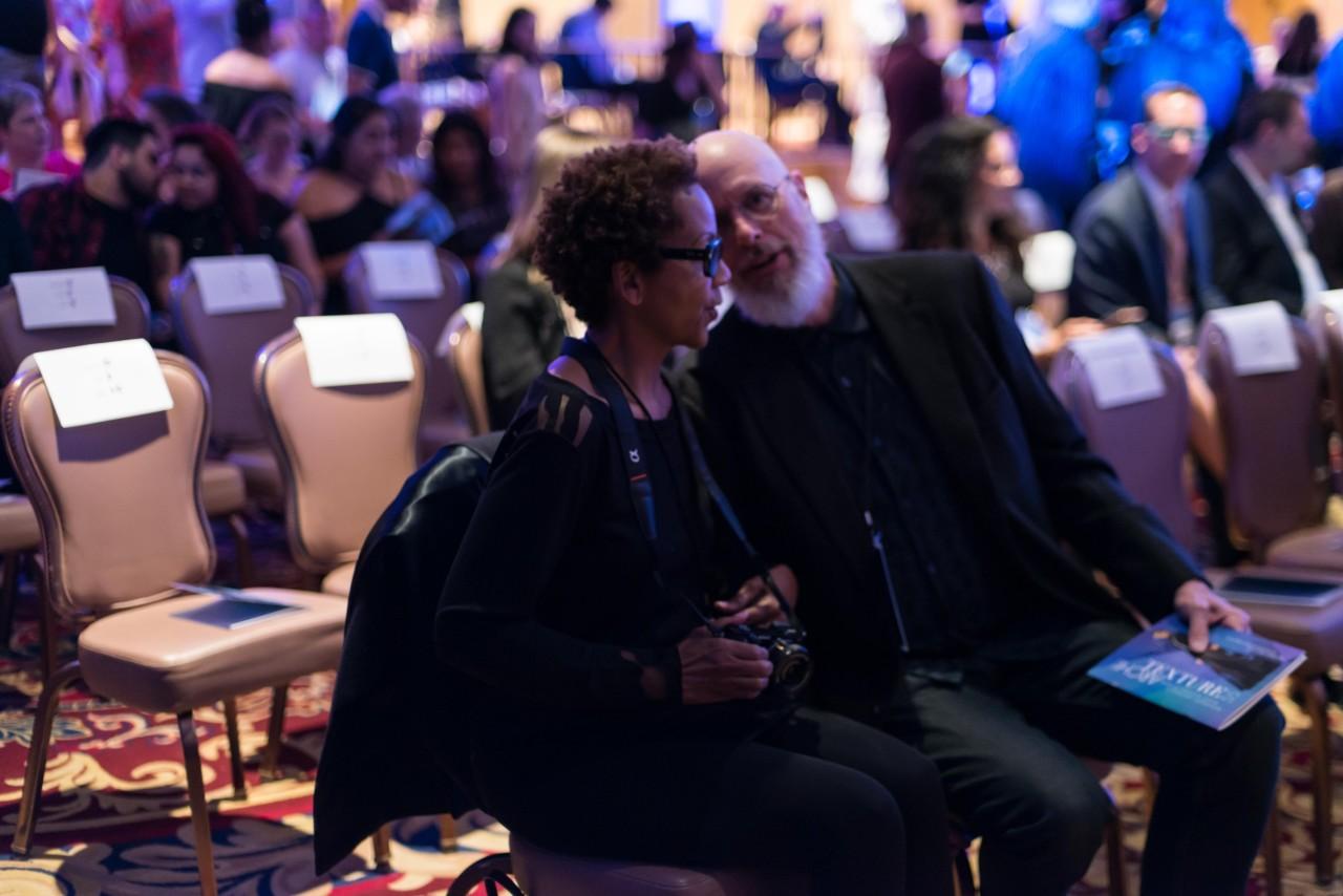 Woodbury University Fashion Show, Rhonda P. Hill and Erik ReeL, photo Wayne D. Fleshman, 2019
