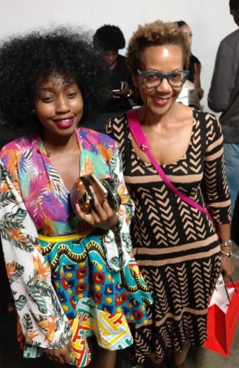 Rhonda P. Hill with designer Kapasa Musonda, Africa Fashion Week LA, ©Rhonda P. Hill