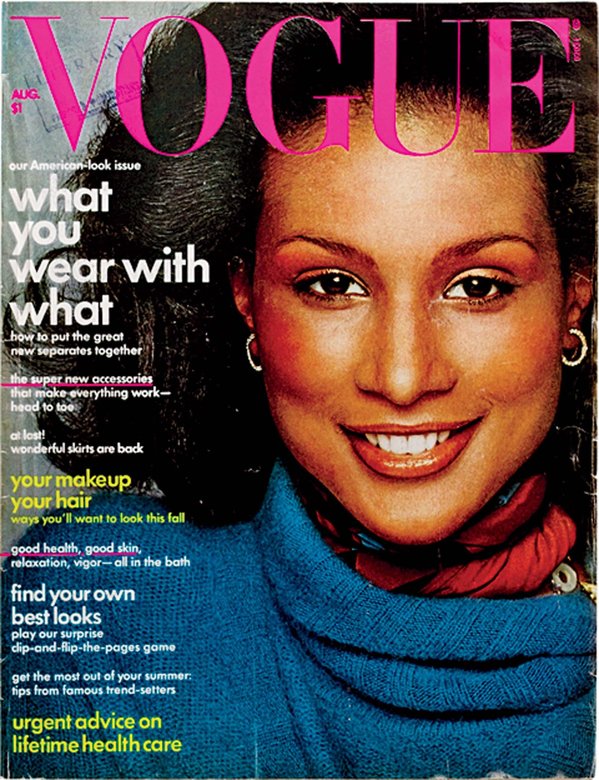 Beverly Johnson American Vogue cover, 1974