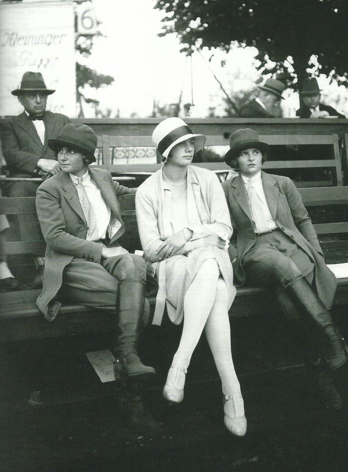 Source Pinterest, Gary Moon | Berlin 1928, at a polo tournament, scan from: Berlin die 20er Jahre, Christian Brandstätter Verlag