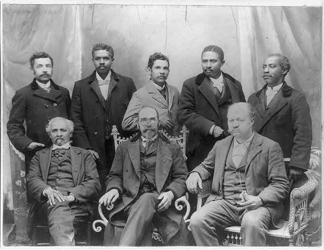 Board of directors of the Coleman manufacturing co., Concord, N.C., the only Negro cotton mill in the U.S.,1899,Exhibit of American Negroes, 1900 Paris Exposition, Library of Congress