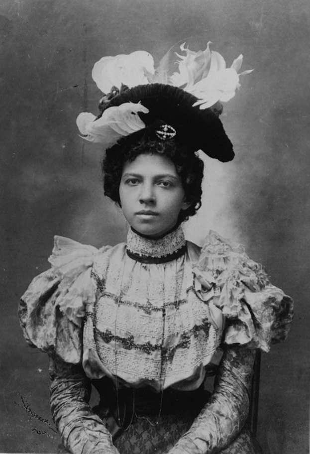 African American woman, half-length portrait, wearing hat, facing front; W.E.B. Du Bois' Exposition des Nègres d'Amérique Transformed the World's View of Black in America; courtesy of Library of Congress Prints and Photographs Division Washington, D.C. 20540 USA