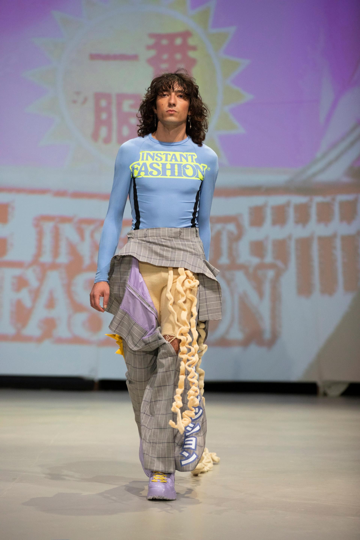 Pepe Jo Kaul, designer | Neo.Fashion.21, 6.9.2021, Graduate Show 2, HAW Hamburg, Alte Münze, Berlin | Photo by Simon Cornils, Illure Management for Neo.Fashion.